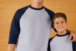 3/4 Length Raglan Baseball T- Anvil 2184